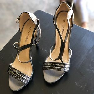 Black & Silver Heels